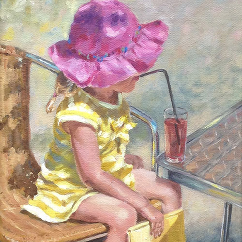 Mary Dews - Girl in Pink Hat