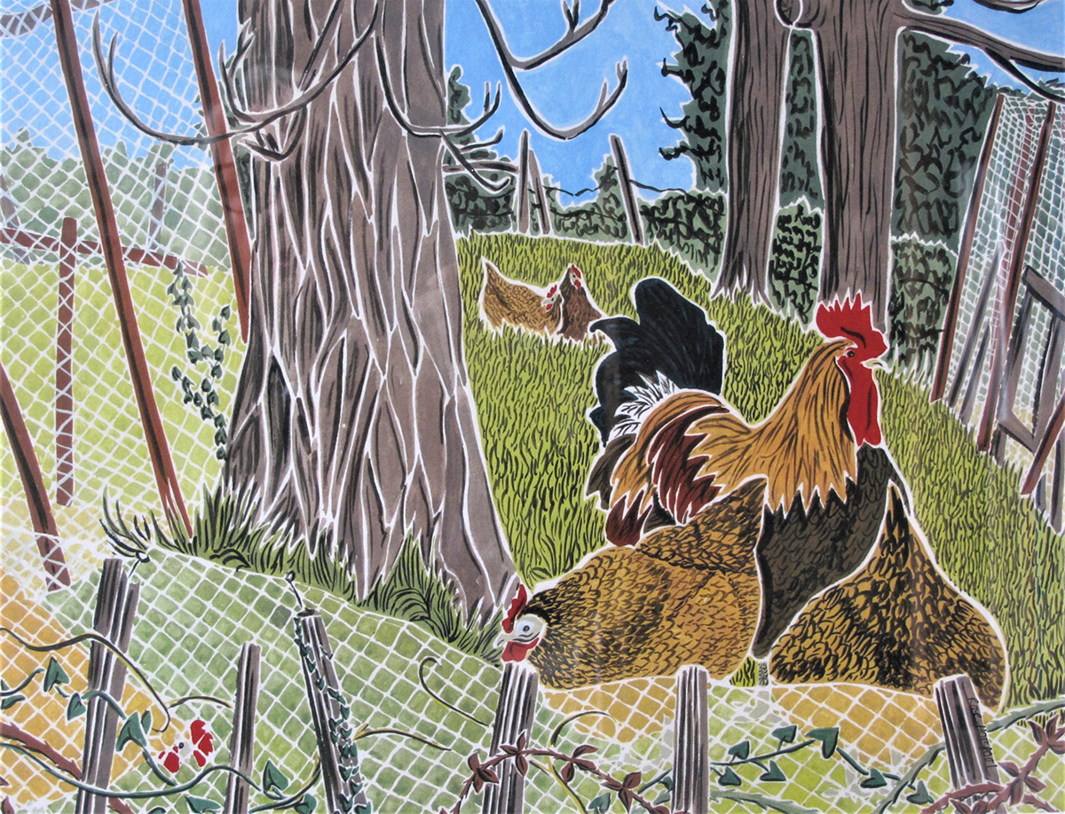 Rose Horspool - Madame Barnagaud's Chickens
